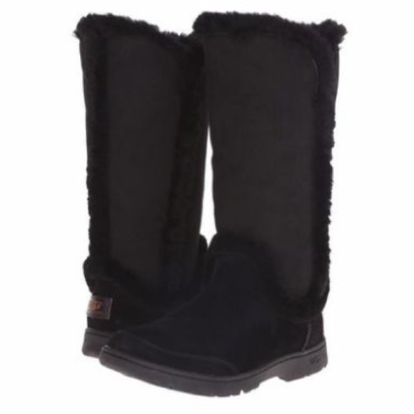 19f395a57f3 ❤️New Ugg Katia Black Tall Suede Tall boots Sz 7 NWT